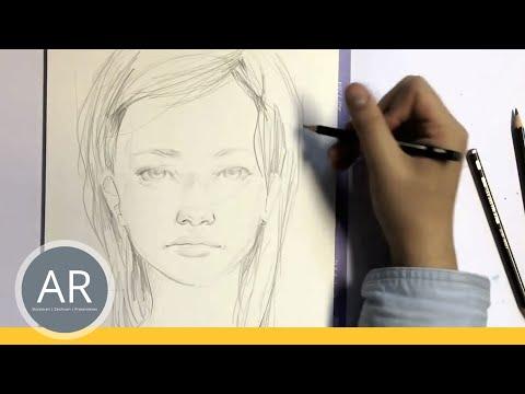 Zeichnen lernen  – Portrait Zeichnen – Akademie Ruhr Tutorial