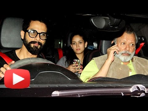 Shahid Kapoor & Mira Rajput Watch Rangoon | Movie