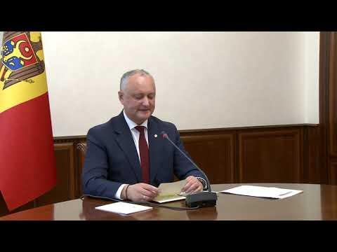 Președintele Igor Dodon a rostit un discurs în cadrul ședinței online a Consiliului Economic Suprem Eurasiatic