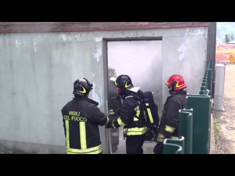 Incendio In Una Cabina Elettrica A Lozza