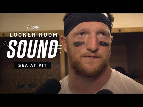 Locker Room Sound at Steelers: Will Dissly's Big Night   2019 Seattle Seahawks