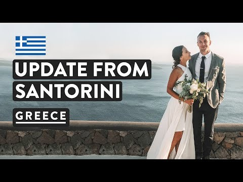 SANTORINI WEDDING & VILLA TOUR | Greek Island Luxury | Greece Travel Vlog