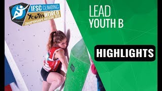 IFSC Youth World Championships Moscow 2018 - Youth B Lead Finals Highlights by International Federation of Sport Climbing
