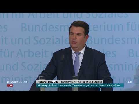 Bundesarbeitsminister Hubertus Heil (SPD) zu sozial- und arbeitspolitischen Themen