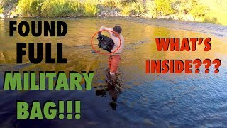 Video River Treasure: Found FULL Military Bag in the River!!! (Deadly Weapons Found - Police Called) MP3, 3GP, MP4, WEBM, AVI, FLV September 2017