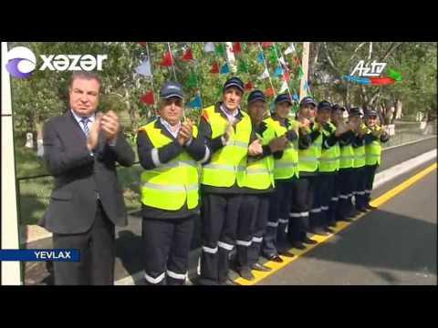 Prezident İlham Əliyev Yevlax rayonuna səfər edib (видео)