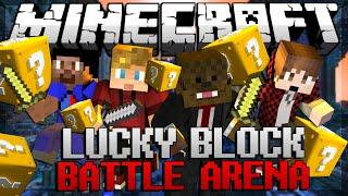 Minecraft BATTLE ARENA Lucky Block Modded Minigame w/ JeromeASF&Friends!