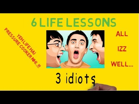 """3 idiots"" - 6 LIFE LESSONS FROM FILM (ANIMATED SUMMARY WITH ENGLISH SUBTITLES)"