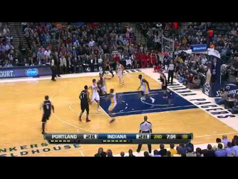 Meyers Leonard with alley-oop dunk on Pacers