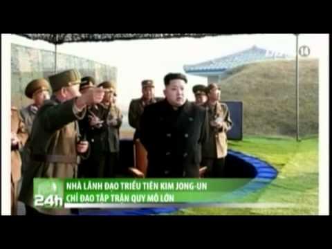Nhà lãnh đạo Triều Tiên Kim Jong-un chỉ đạo tập trận quy mô lớn