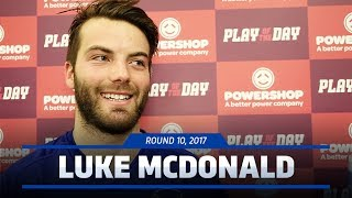 Luke McDonald is this week's nominee for Powershop Play of the Day for his last quarter goal against the Blues.