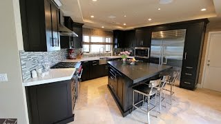 Design Build Dark Espresso Transitional Kitchen in Dana Point