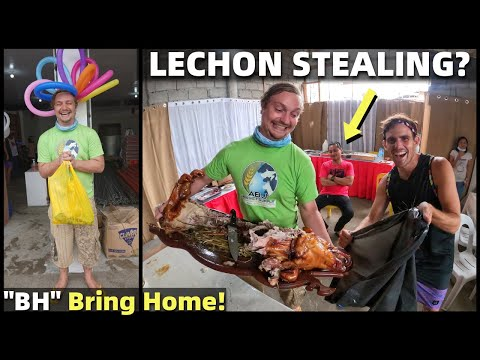 BRITISH MAN STEALS LECHON? Store Opening In The Philippines (Filipino Celebration)