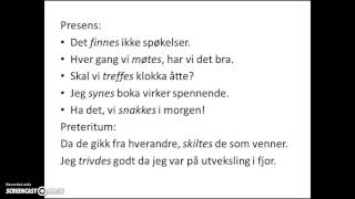 Sterke verb i bokmål