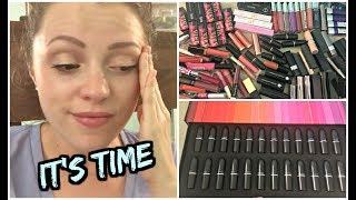 My FIRST Youtube video:  https://youtu.be/SDwJS2qzkfAI was super inspired to declutter the lip part of my makeup collection today so I could organize it all into one drawer. Hope you enjoy - don't forget to watch my other declutters: http://bit.ly/1TUP0le► SUBSCRIBE FOR MORE BEAUTY VIDEOS: http://bit.ly/subtojess► MY HUSBAND TYLER'S CHANNEL/OUR VLOGS: http://bit.ly/1lDqfvi► SNAP  IG  TWITTER  FB: @jambeauty89❋ EBATES//MAKE MONEY SHOPPING ONLINE: http://bit.ly/1g7rj6W❋ HAUTELOOK/ // 50% OFF HIGH END MAKEUP: http://bit.ly/1fWXfuv▼ CONTACT ▼EMAIL for Business Inquiries: jambeauty89@gmail.comMAIL: PO Box #50204 Indianapolis, IN 46250DISCLAIMER:  This video is NOT sponsored.  All opinions are my own, honest opinions, regardless of sponsorship, referral links, and/or affiliation. Product links with Go.Magik.ly and links denoted with a ❋ denotes a referral and/or affiliate link. MUSIC: All Sound Effects Provided by: Youtube Audio Library. End Credits: Italian Afternoon by Twin Musicom is licensed under a Creative Commons Attribution license (https://creativecommons.org/licenses/...) Artist: http://www.twinmusicom.org/