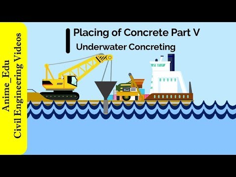 Underwater Concreting || Placing Of Concrete || Manufacture Of Concrete #18 ||
