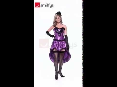Déguisement burlesque violet pour femme