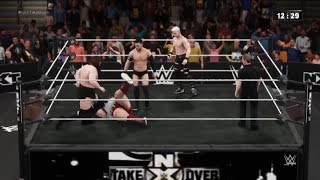 WWE2K18 - Finn Balor & Daniel Vs Earthquake & Killian Dain