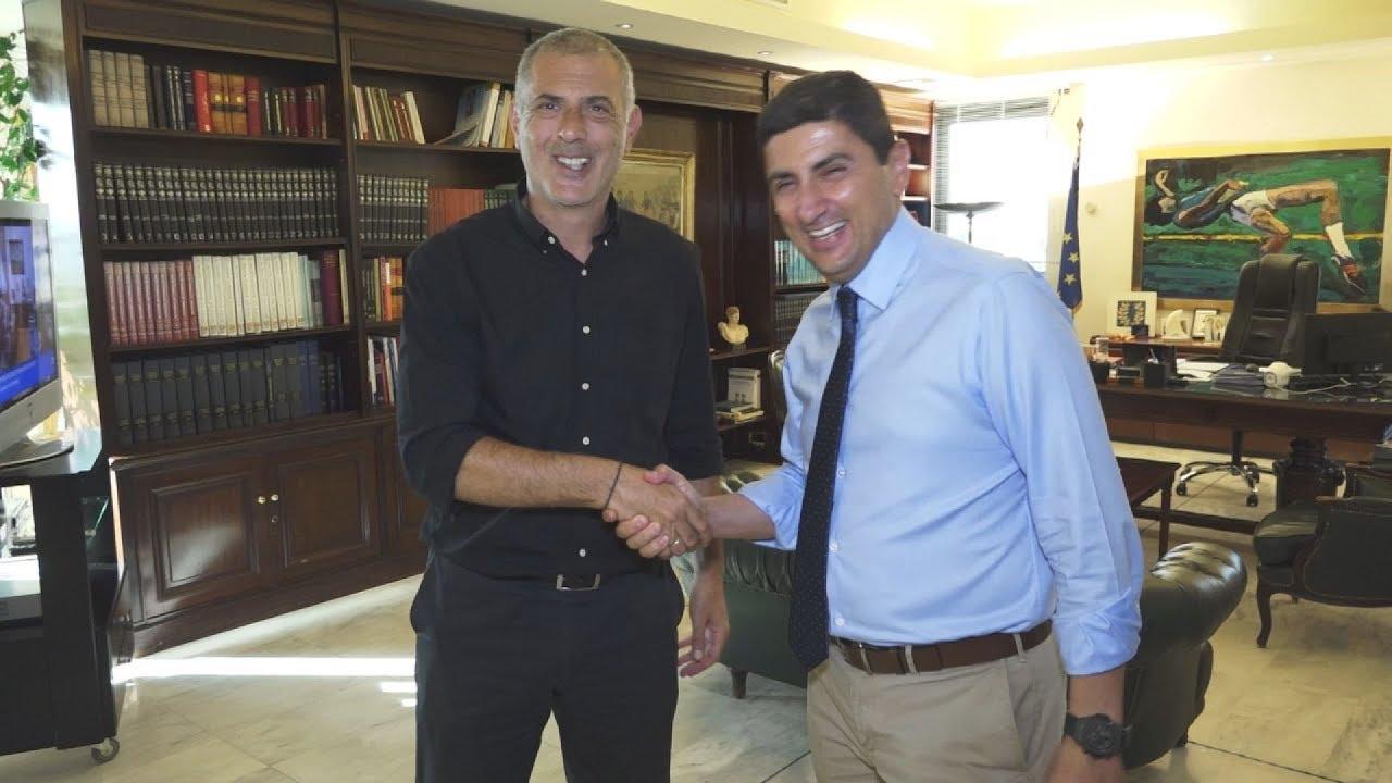Συνάντηση του  υφυπουργού Αθλητισμού Λευτέρη Αυγενάκη με τον Γιάννη Μώραλη