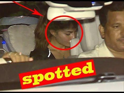 Jacqueline Fernandez Spotted At Salman Khan House