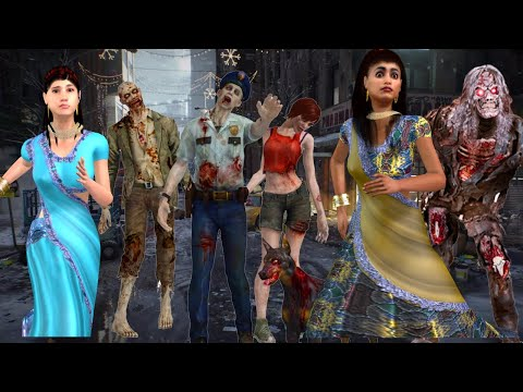 झोम्बिओंका शहर | कबतक बचोगे |Zombies Horror Story Part 1|Best Animated Movies | 3d Animation |
