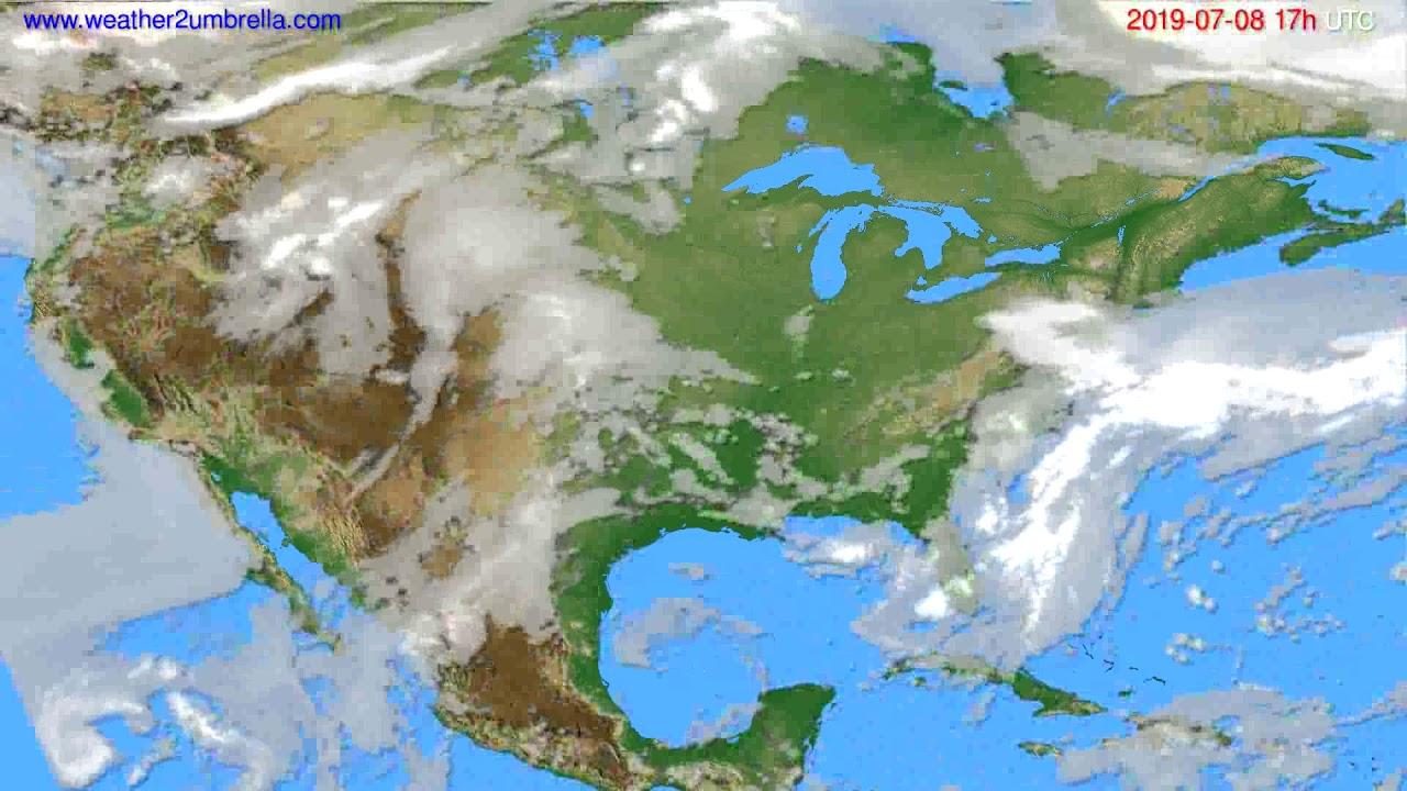 Cloud forecast USA & Canada // modelrun: 00h UTC 2019-07-07