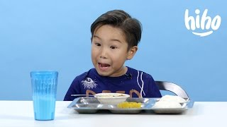 Video School Lunches | American Kids Try Food From Around the World - Ep 2 | Kids Try | Cut MP3, 3GP, MP4, WEBM, AVI, FLV Juli 2018