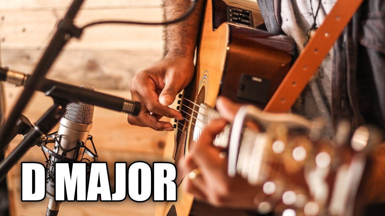 Acoustic Guitar Backing Track In D Major | Your Heart