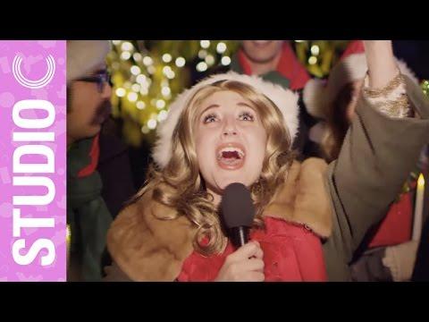 Celine Dion Goes Christmas Caroling – Studio C
