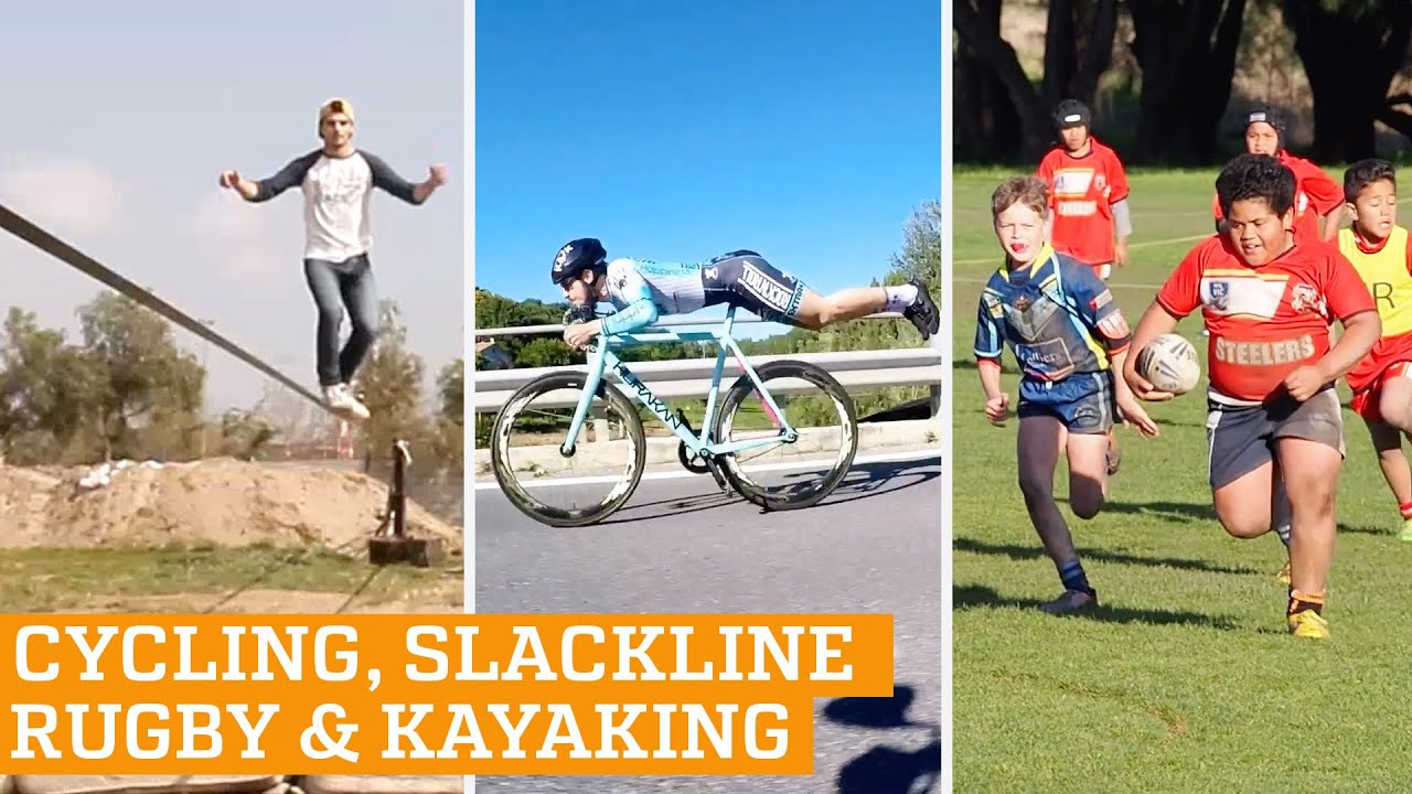 TOP FIVE: Superman Cycling, Slackline and Rugby | PEOPLE ARE AWESOME 2016