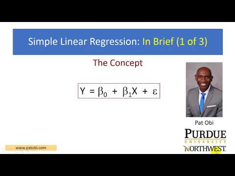 Regression - In Brief 1of3