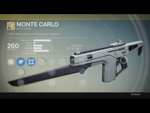 Destiny – EXOTIC: Gun – Monte Carlo – Auto Rifle – Gameplay –