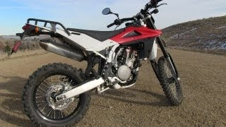 7. 2009 Husqvarna TE-450 0-60 MPH Mile High Ride and Review