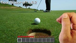 Real Life Minecraft - GOLF CHALLENGE #2
