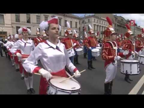 5-й канал.  Барабанщики со всей России съехались в Санкт-Петербург