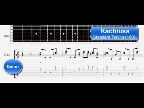 How to play Kachiusa  - Guitar tutorial
