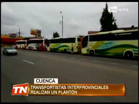 Transportistas interprovinciales realizan un plantón
