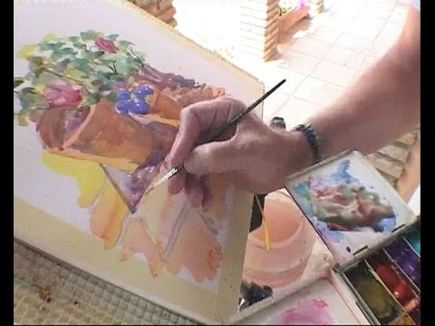 Painting Watercolours in Andalucia - Barry Herniman