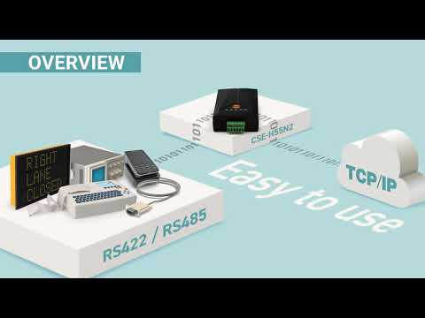 CSE-H55N2 (Industrial RS422/RS485 Ethernet Device Server)