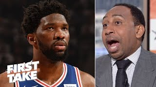 I'm scared the Sixers might get swept by the Raptors - Stephen A. | First Take