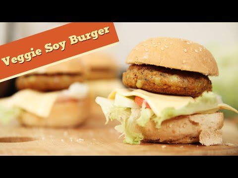 Soy Burger | Veg Burger Recipe | Divine Taste With Anushruti
