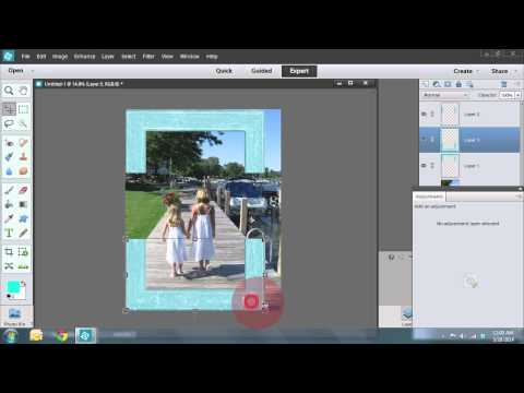 Make the Perfect Frame for your Scrapbook Photos