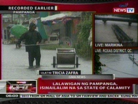 QRT: Lalawigan ng Pampanga, isinailalim na sa state of calamity