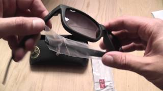 Ray Ban Justin sunglasses unboxing