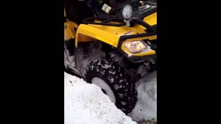 9. Snowy hill with atv Kymco 500 & Outlander 500 XT