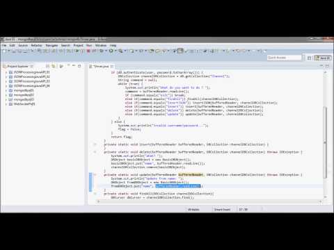 mongoDB Tutorial 03 (update, delete, & insert  from Java Code)