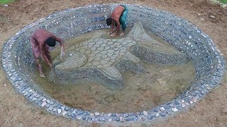 Build Stone Fish Pond Part 1