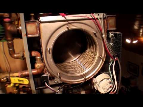 NTI Trinity 150 Combi Boiler - Cleaning Out The Combustion Chamber