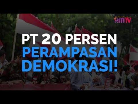 PT 20 Persen, Perampasan Demokrasi!