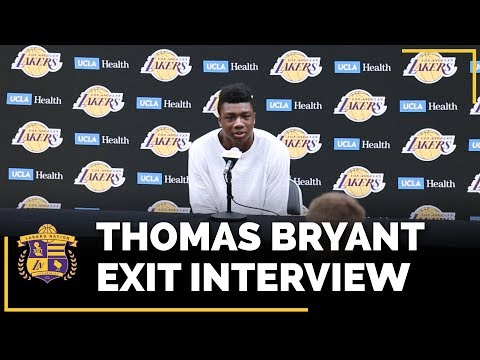 Video: Lakers Exit Interviews 2018: Thomas Bryant